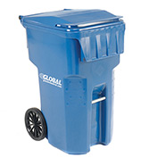 Otto Mobile Heavy Duty Trash Container, 95 Gallon, Blue