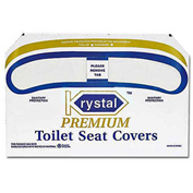 Boardwalk Premium 1/2 Fold Toilet Seat Covers, 250 Covers/Sleeve, 20/Case
