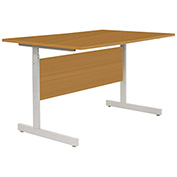 "Height Adjustable Computer Desk, 36""W x 24""D x 26""- 28""H, Oak"