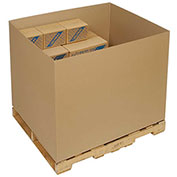 "Bulk Cargo Container - Double Wall Gaylord Bottom Container - 48x40x36"", 5/Pk"