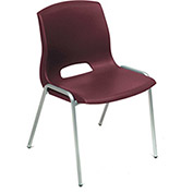 Vented Stackable Chairs - Burgundy - Pkg Qty 4