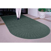 Waterhog Grand Classic Mat, One Oval / One Straight, Green, 3'W x 10'L