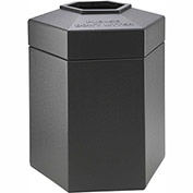 Commercial Zone 45 Gallon Waste Receptacle, Charcoal
