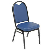 Stackable Chair, Vinyl Upholstery, Blue - Pkg Qty 4