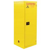 "Slim Flammable Cabinet BA18, Manual Close Single Door 18 Gallon, 23""W x `18""D x 44""H"
