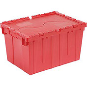 Distribution Container With Hinged Lid, 21-7/8x15-1/4x9-11/16, Red