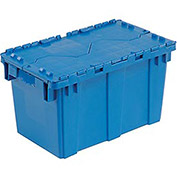 Distribution Container With Hinged Lid 22-3/8x13x13 Blue