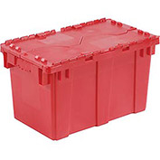 Distribution Container With Hinged Lid, 22-3/8x13x13, Red