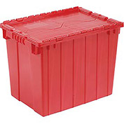 Distribution Container DC2115-17 With Hinged Lid 21-7/8x15-1/4x17-1/4 Red