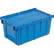 Distribution Container With Hinged Lid 24-1/2x14-7/8x13-3/4 Blue