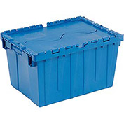Blue Distribution Container With Hinged Lid 23-3/4x19-1/4x12-1/2