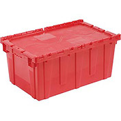 Distribution Container With Hinged Lid 27-3/16x16-5/8x12-1/2 Red