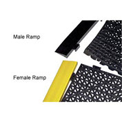 "Durable Corp Female Ramp, 12"" X 2.5"", Yellow"