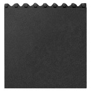 Apache Mills Cushion Modular Matting, Solid With Grit, Black, 36 x 36""