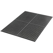 Extra Value Drainage Matting, 3'Wx5'W, Black, With Grit Top