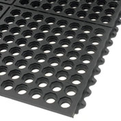 Extra Value Drainage Matting, 3'Wx10'L, Black, With Grit Top