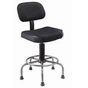 Ultra Comfort Fabric Stool, Black
