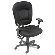 Multifunction Task Chair, Breathable Mesh Fabric, Black