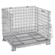 48x40x42-1/2 Folding Wire Container, 4000 Lb Capacity