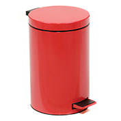 Step On Trash Can, 3-1/2 Gallon, Red