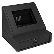 "LCD Console Counter Top Security Computer Cabinet, Black, 24-1/2""W x 22-1/2""D x 22-1/8""H"