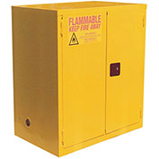 "Flammable Cabinet, 120 Gallon, Manual Close Double Door, 59""W x 35""D x 65""H"