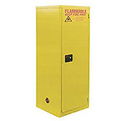 "Slim Flammable Cabinet BA60, Manual Close Single Door 60 Gallon, 23""W x 34""D x 65""H"