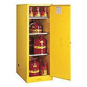 Self-Close Single, 54 Gal. Capacity, 3-Shelf, Sure-Grip® EX Handle, Slimline