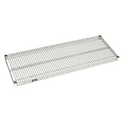 "Nexel Chrome Wire Shelf w/Clips, 48""W x 18""D"
