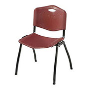 Oakmont Burgundy Plastic Stackable Chair - Pkg Qty 4