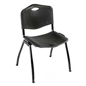 Plastic Stackable Chair - Black - Pkg Qty 4