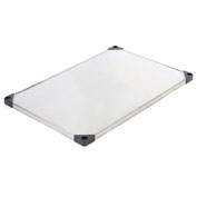 "Stainless Steel Solid Shelf With Clips, 18""W x 36""D"