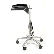 """Mobile Laptop Workstation with CPU Holder, 16""""W x 13-1/2""""D x 40""""H, Black/Silver"""