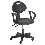 Puncture Proof Ergonomic Chair With Armrests, Polyurethane Seat and Back