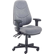 8 Way Adjustable Executive Chair, Fabric, Gray
