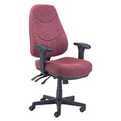 8 Way Adjustable Executive Chair, Fabric, Burgundy