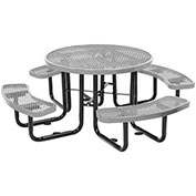 "46"" Round Metal Picnic, Surface Mount, Gray"