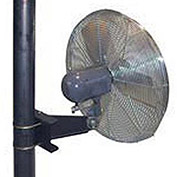 "TPI 30"" Pole Mount Fan Non Oscillating, 1/4 HP, 1 PH, TE Motor"