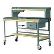 "Bench Drawer - 15""W X 20""D X 6""H, Gray"
