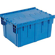 Blue Distribution Container With Hinged Lid 28-1/8x20-3/4x15-5/8