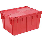 Distribution Container With Hinged Lid, 28-1/8x20-3/4x15-5/8, Red