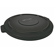 Brute Flat Lid For 44 Gallon Round Trash Container, Black