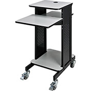 Projector Presentation Cart - Gray & Black