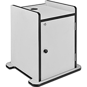 Locking Cabinet for Overhead Projector Presentation Cart