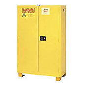 """Flammable Cabinet FM45, with Legs, Manual Close Double Door 45 Gallon, 43""""W x 18""""D x 69""""H"""