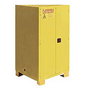 """Flammable Cabinet With Legs, Manual Close Double Door 60 Gal, 34""""W x 34""""D x 69""""H"""