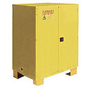 """Flammable Cabinet FM120, with Legs, Manual Close Double Door 120 Gallon, 59""""W x 34""""D x 69""""H"""