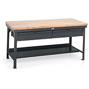 "STRONG HOLD All-Welded 10,000-Lb. Capacity Workbench - 72x36"" Top"