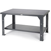 "STRONG HOLD Adjustable-Height 10,000-Lb. Capacity Workbench - 72x36"" Top"