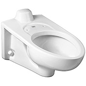 American Standard Low Flow Elongated Flush Valve Toilet W/Everclean, 1.1 - 1.6 GPF, 3353101.020